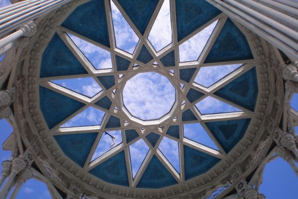 many pointed star vaulted opening to sky