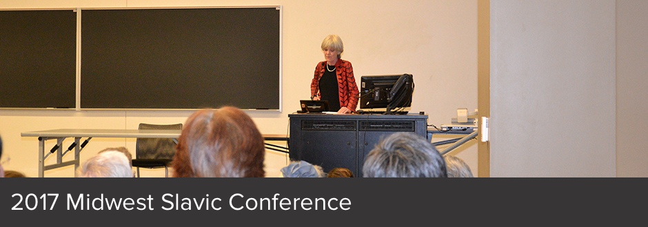 Audience observes a speaker at the 2017 Midwest Slavic Conference